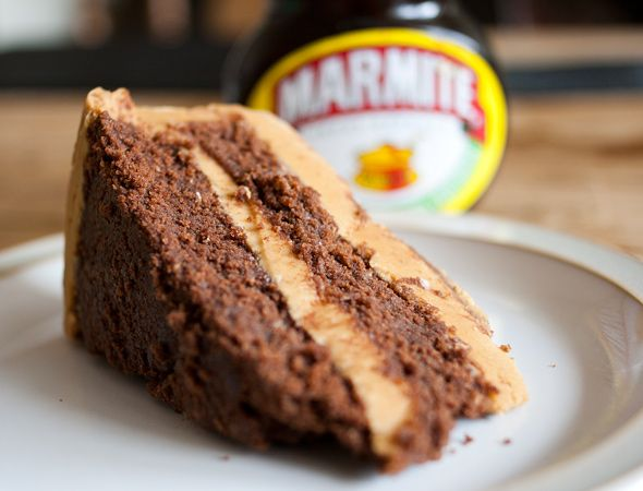 Chocolate Cake with Marmite Caramel Buttercream - you'll either love it or hate it...