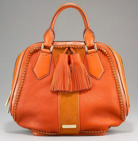 Burberry Orange Handbag