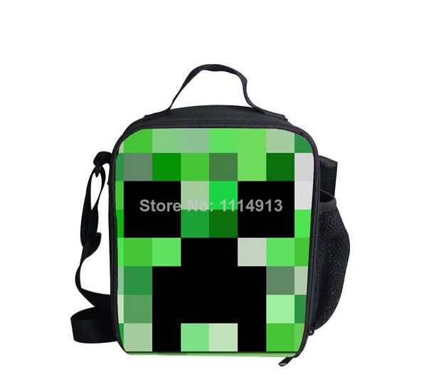 2014 New designer minecraft lunch bag for kids game ...