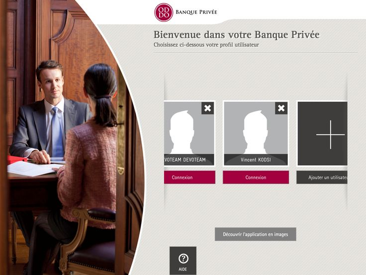 AXANCE - #ODDO Private #Bank #tablet #application #design #Contact - bank application