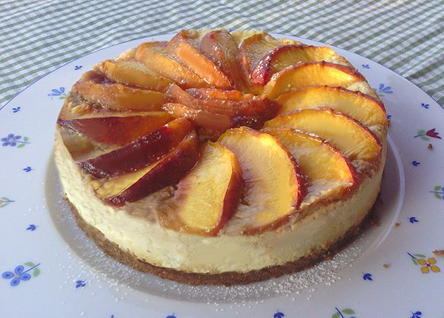 Cheese cake light alle pesche