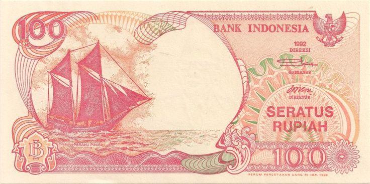 Motivseite: Geldschein-Asien-Indonesien-Rupiah-100-1999