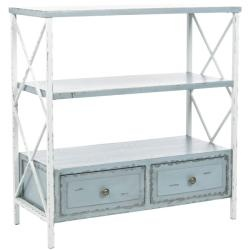 Saffron Pale Blue Storage Console Table $167: Country Charms, Living Rooms, Living Spaces, Consoles Tables, Sofas Tables, End Tables, Pale Blue, Blue And White, Storage Consoles