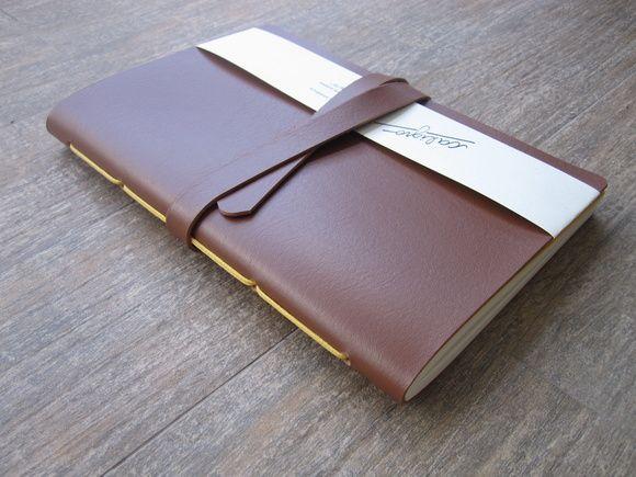 Caderno Couro sintético - Caramelo