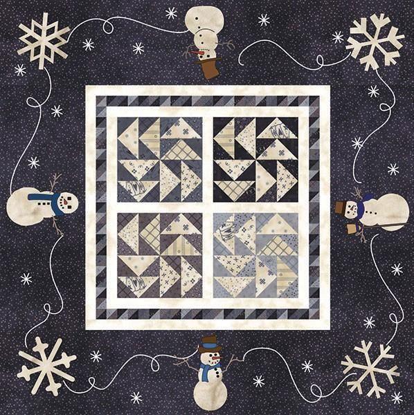 Snowman Gatherings 2 wool applique pattern by Primitive Gatherings