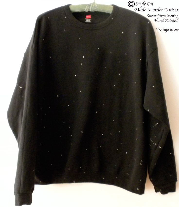 Star sweatshirt, Black crewneck sweatshirt, Paint Splatter sweatshirt, Hand painted, Graphic, Galaxy, shooting stars, rocker