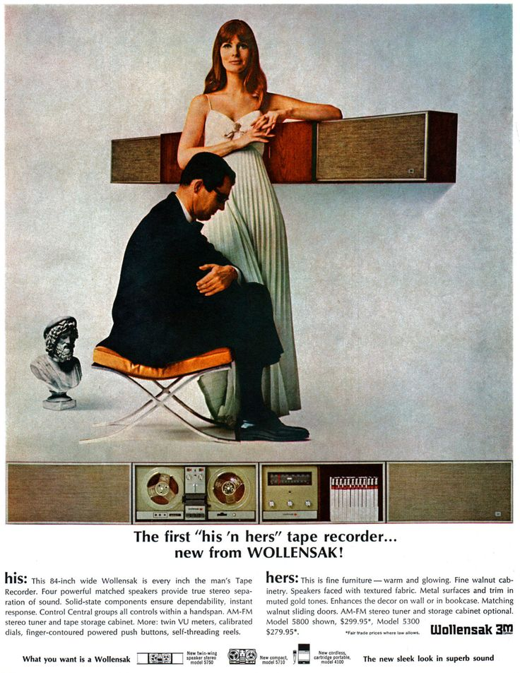 Wollensak tape recorder ad (1966)