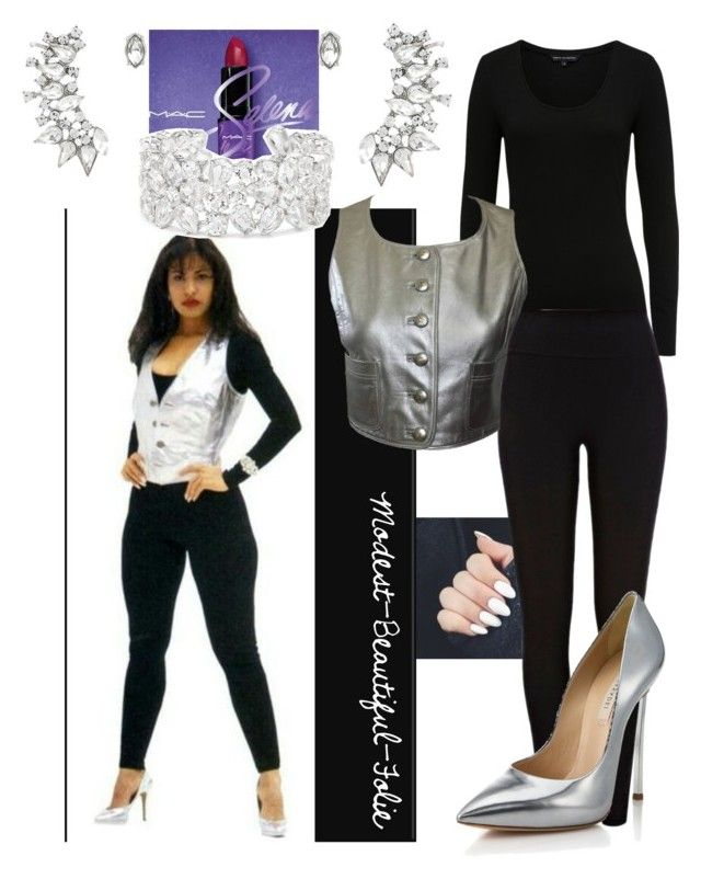 """""""~*♡ Introducing Selena Quintanilla-Perez! ♡*~"""" by modest-beautiful-folie on Polyvore featuring Express, Chanel, River Island and Casadei"""