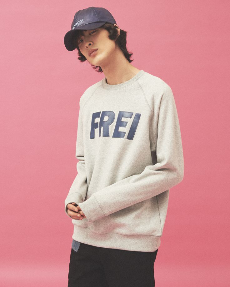 "FREIKNOCK 17S/S LOOKBOOK ""REFORMATION"" FREIKNOCK BIG LOGO SWEAT SHIRTS MENS FASHION UNISEX"