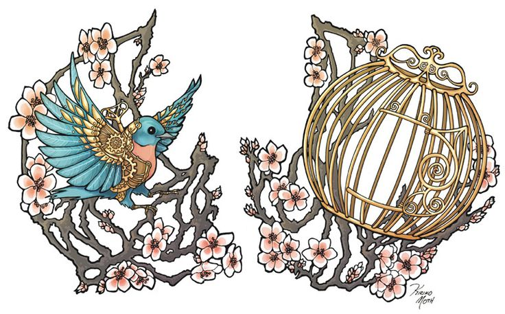 Finally found the website that had the original artwork for my tattoo! I had no idea it was drawn to be a tattoo in the first place!