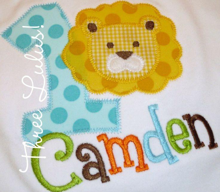 Lion Circus Zoo Jungle Birthday Shirt Applique by threelulus