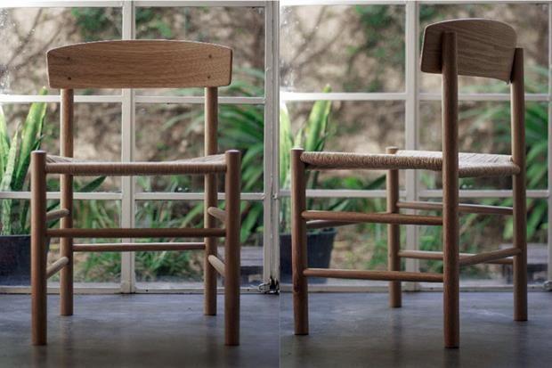 10 modelos de sillas para tu comedor  Silla nórdica hecha de roble americano macizo y tejida en fibra de papel (cons. precio, Broca Muebles) / Brocamuebles.blogspot.com.ar.