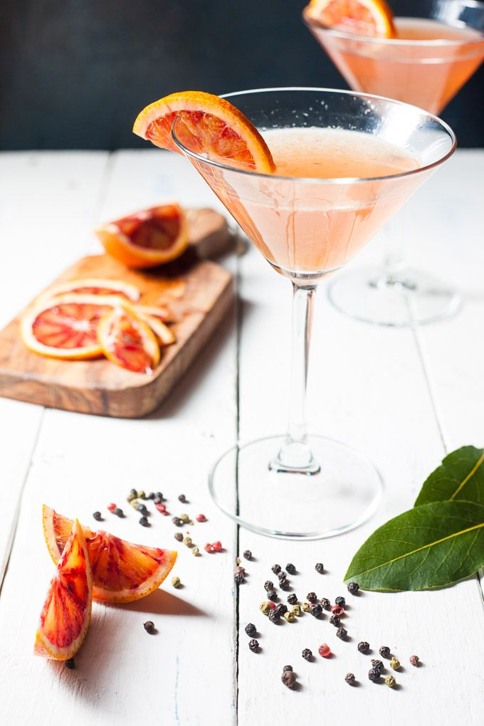Blood Orange Gin Martini www.wildeorchard.co.uk