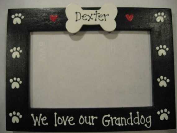 we love our granddog pet grandparents dog personalized family photo picture frame