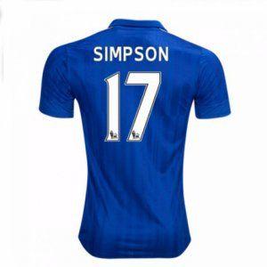 16-17 Leicester City Cheap Home Simpson #17 Replica Football Shirt [I00310]