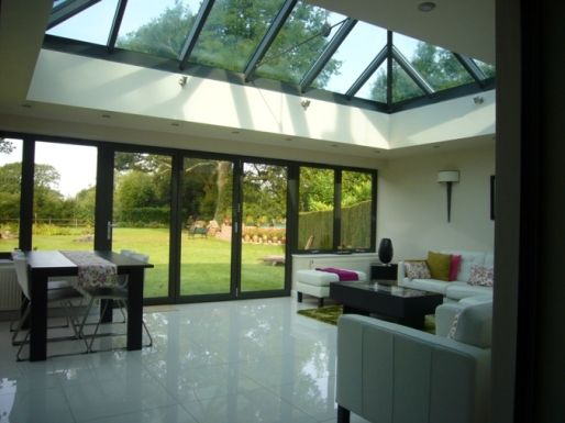 bifold doors with lantern roof | ClearView