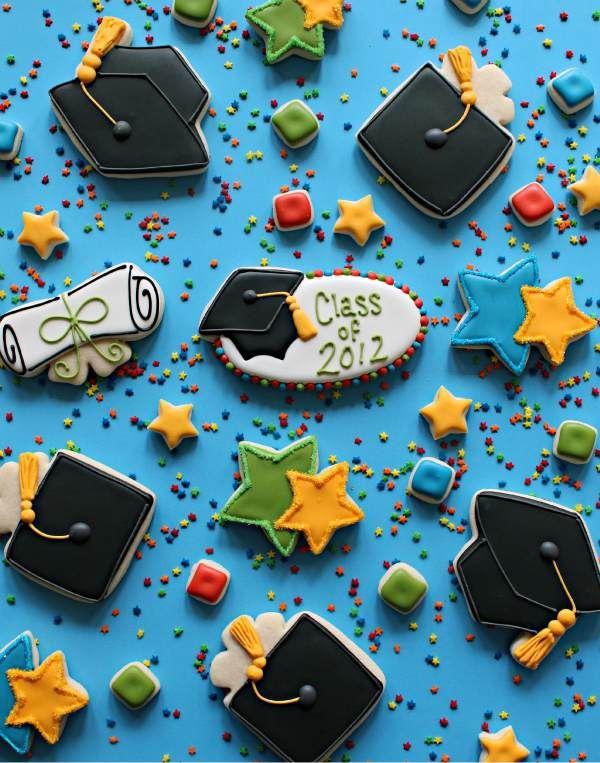 Simple Graduation Cookie Platter - Sugarbelle