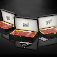 "Oscar Mayer Bacon Boxes Father's Day Gift Set | Cool Material. Create a ""This is Your Life"" book by interviewing his family & friends, ask for stories about his childhood & special times together. Try to find photos or draw some to bring those stories to life."