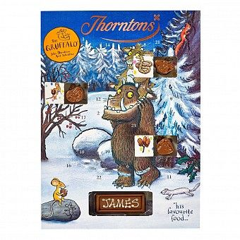 Perfect for little monsters the Thorntons The Gruffalo Chocolate Advent Calendar features the Gruffalo and friends on the front and inside are Gruffalo themed milk  #chocolate shapes.