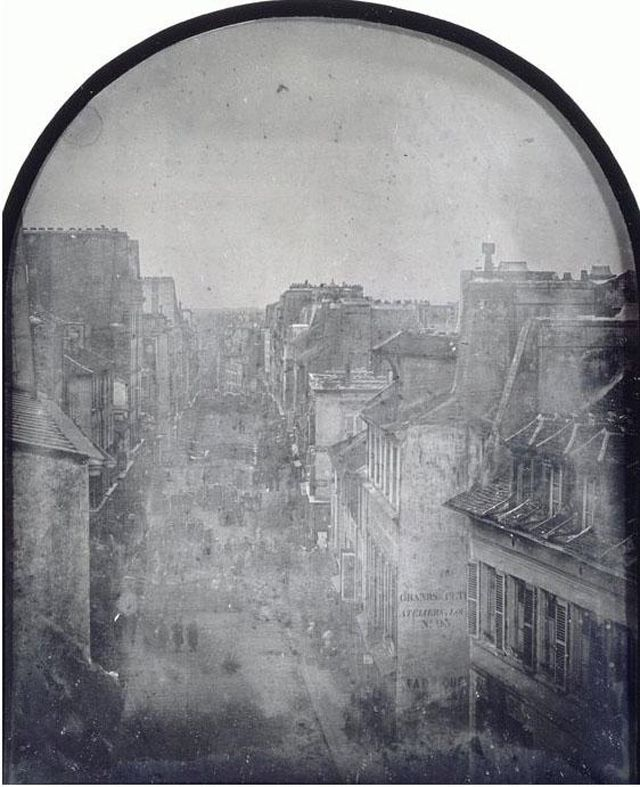 Daguerreotype of the Barricade in the Rue Saint Maur-Popincourt on June 26, 1848 (via Musée d'Orsay) during 1848 Revolution