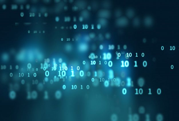 Digital Code Number Abstract Technology Background In 2020