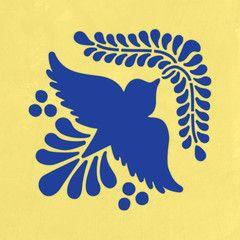 Mexican Talavera Tile - Bird Stencil | stamp carving ...