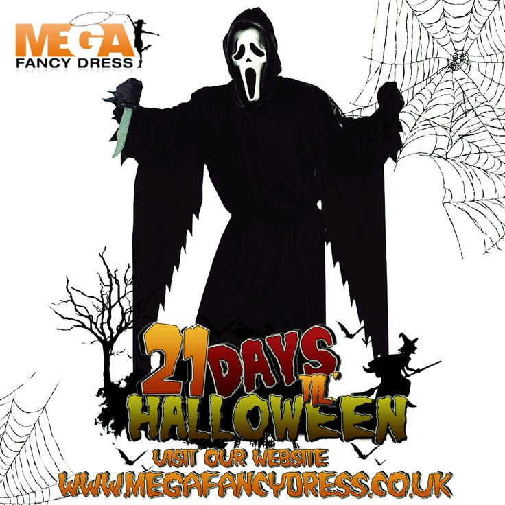Halloween is only 21 days away!   Our featured #fancydress of the day is the Scream 'Ghostface' Costume!   This costume is ideal for any film or villain parties so, make your friends 'scream' this year with this killer outfit!  Check it out here! http://www.megafancydress.co.uk/mens-scream-fancy-dress-costume.html
