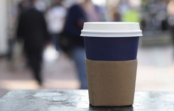Collaborate with coffee shops to place helpful information on cups and sleeves!