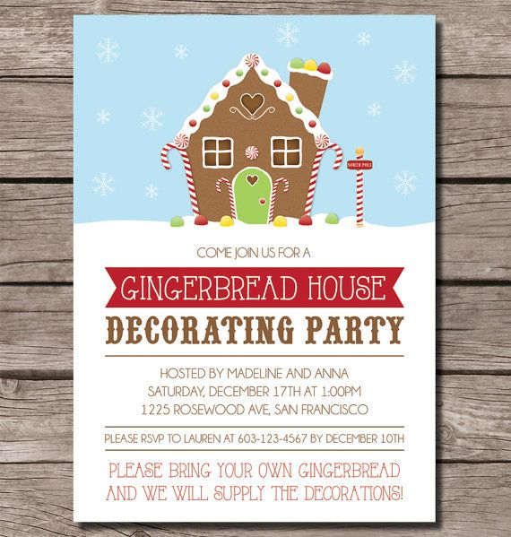 57 best Gingerbread House Party images – Gingerbread Party Invitations