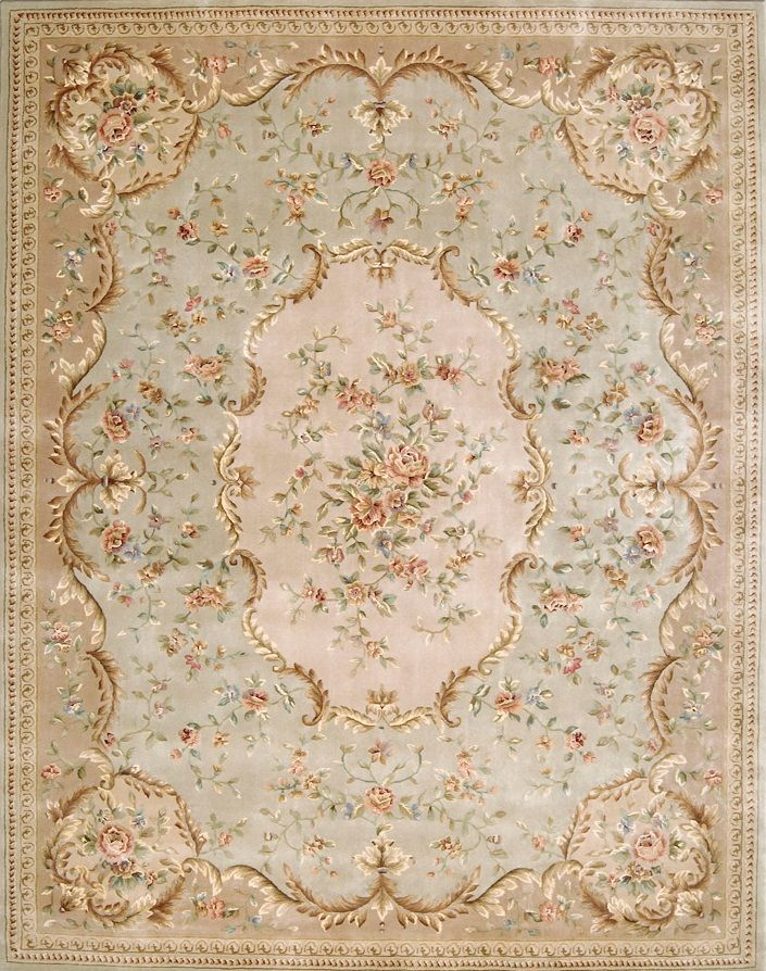Stunning soft colors in this 18th century French rug.