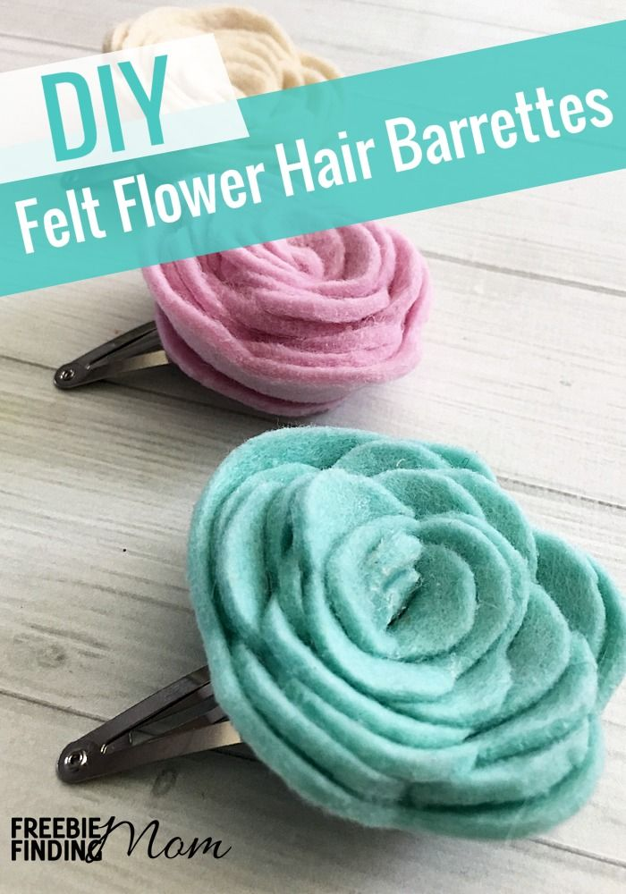Need homemade hair clips ideas? These cute Felt Flower DIY Hair Clips are perfect for girls of all ages (from women to baby). These DIY hair accessories for girls are inspired by the beautiful colors of spring therefore they are ideal for pairing with your Easter dress or formal dresses for spring weddings. Have fun changing up the colors for other holidays and special occasions.
