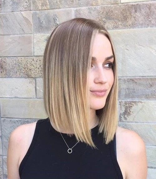 besten 25 middle part blunt cut ideen auf pinterest