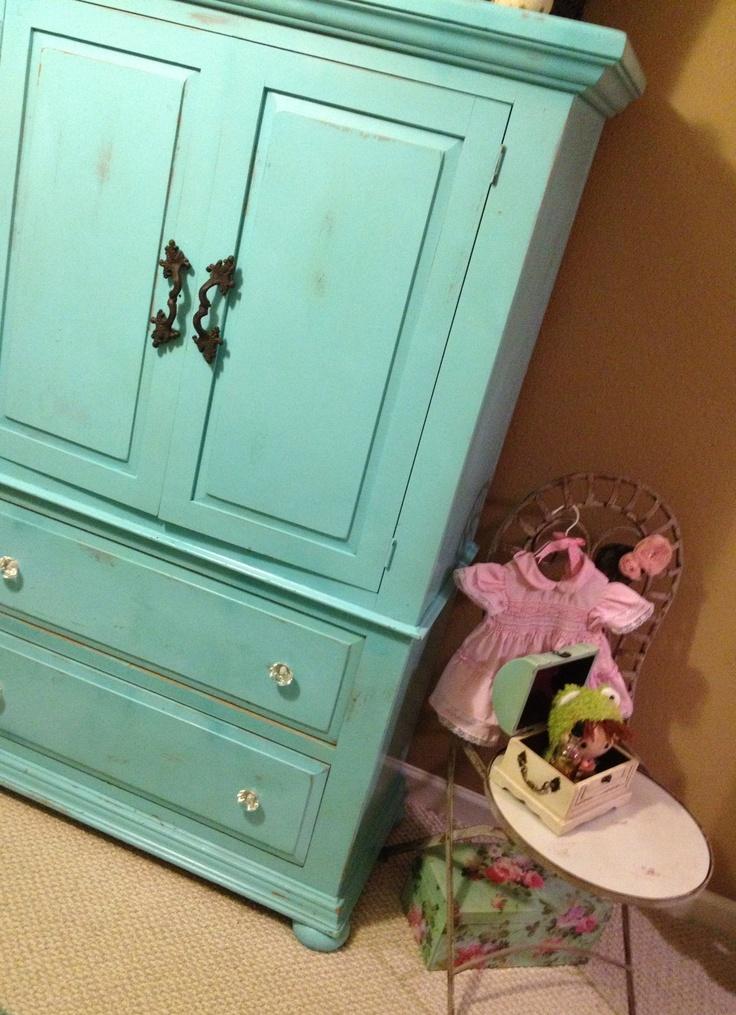 Shabby Chic Armoire For Little Girls Room