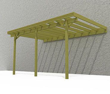 monter un carport adoss un mur jardin pinterest ideas. Black Bedroom Furniture Sets. Home Design Ideas