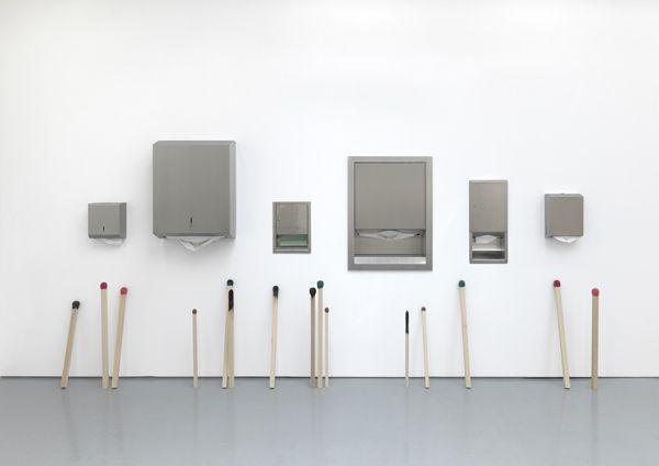 waiting, giving, spent by Gabriel Kuri
