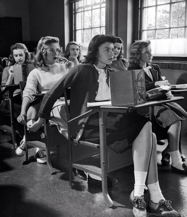 Image result for vintage girls in class