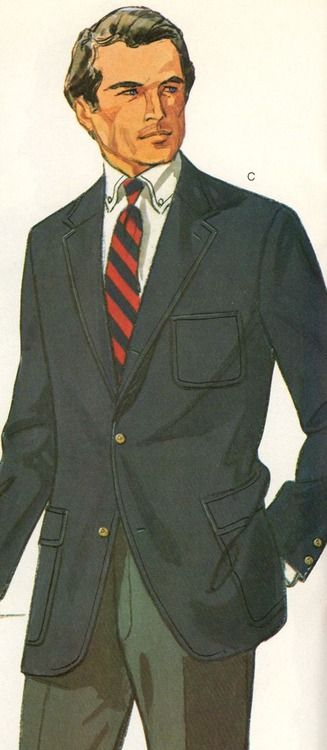 Patch-pocketed Brooks Brothers blazer
