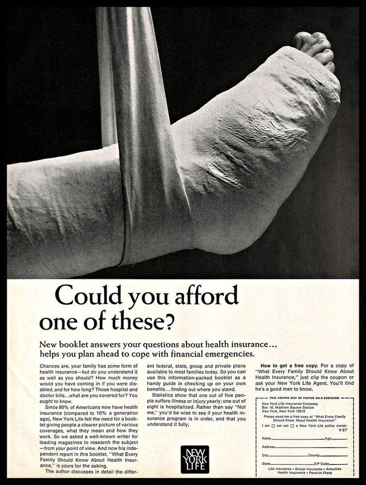 1966 new york life health insurance vintage print ad