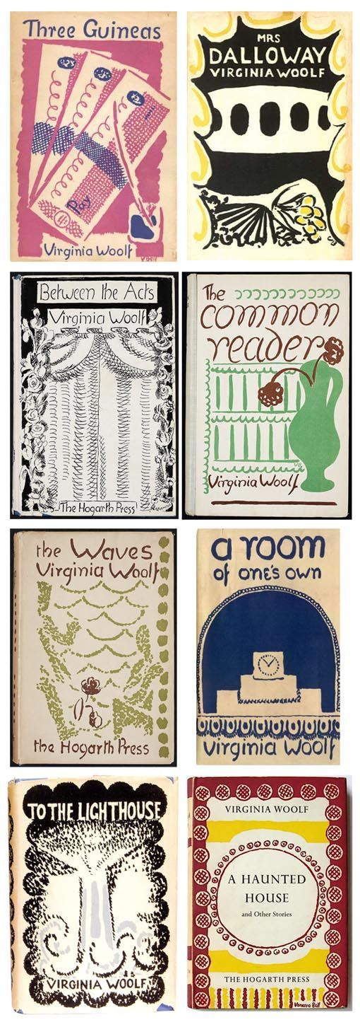 Virginia Woolf Book Covers Designed By Her Sister Vanessa Bell I Wrote A Diary