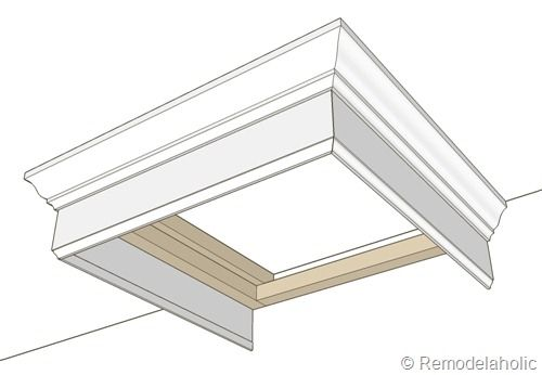Simple Bed Crown Cornice Tutorial