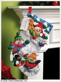 Bucilla ® Seasonal - Felt - Stocking Kits - Snow Fun