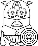 Minion Captain America 1 Minions Coloring Sheets Minion Coloring