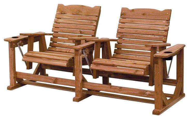Amish Cedar Wood Straightback Outdoor Settee Eco friendly outdoor furniture like the Amish Cedar Wood Straightback Settee uses chemical free aromatic red cedar wood that's grown and harvested in America.
