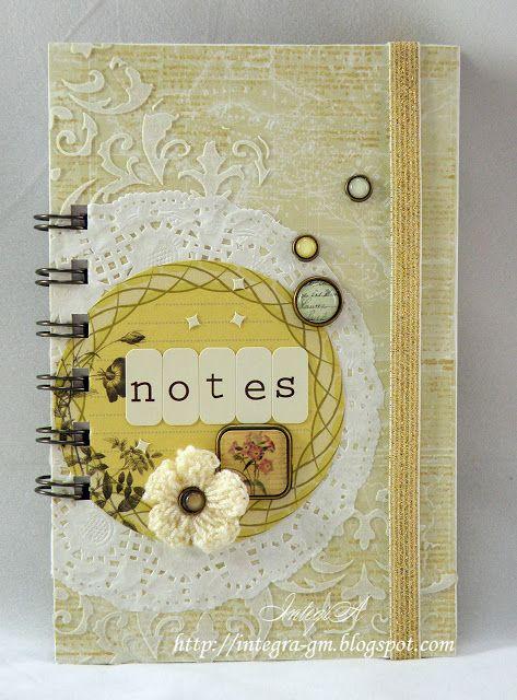 note book - Scrapbook.com Altered notebook.  Notebook. Cuaderno decorado. Libro alterado. Book.