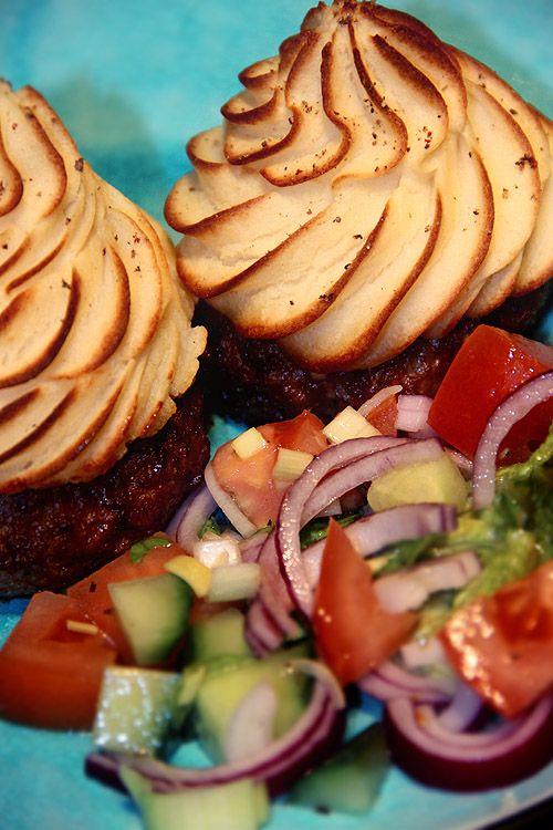 Köttfärs-cupcakes