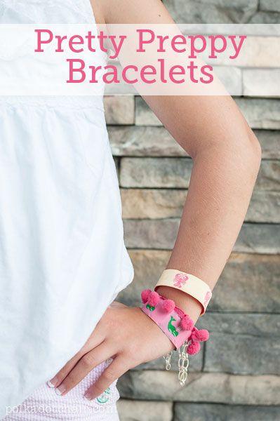 Ribbon Bracelet DIY, Pretty Preppy Bracelets