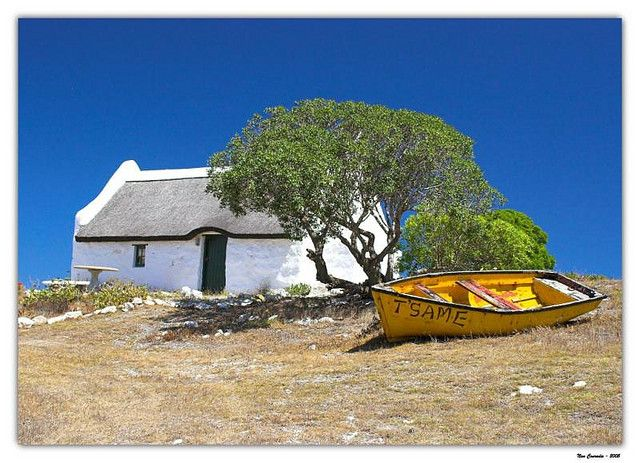 Cape Fisherman's cottage, Struisbaai, South Africa