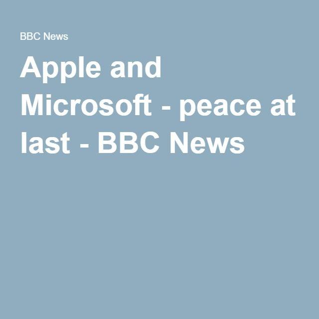 Apple and Microsoft - peace at last - BBC News