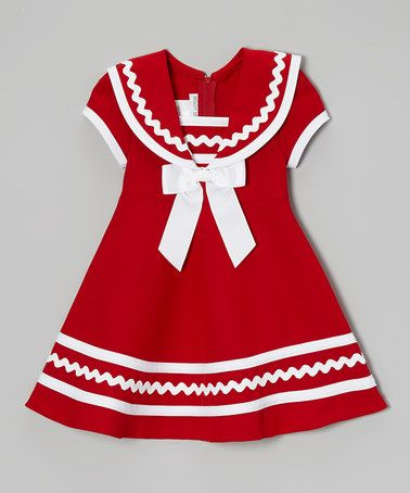 Red & White Sailor Dress - Toddler & Girls
