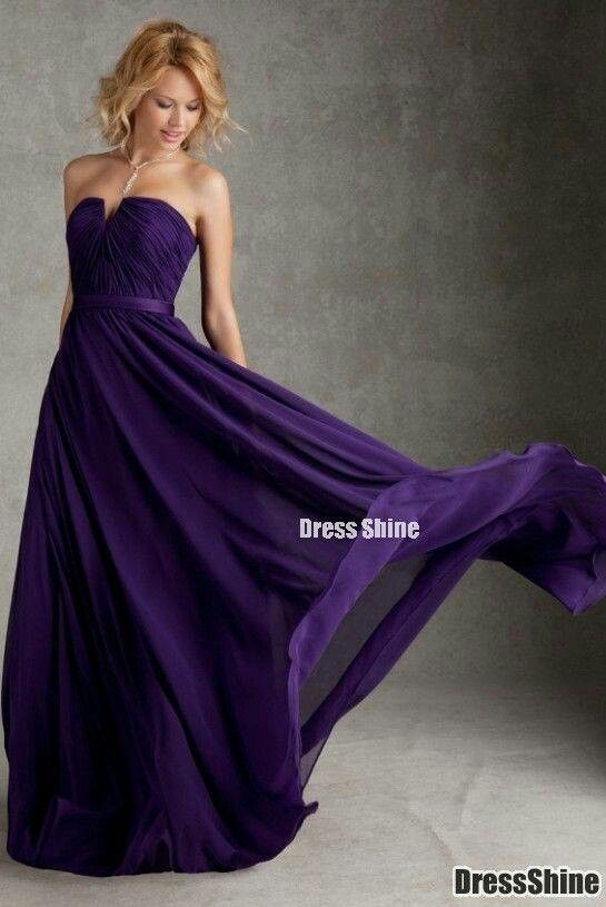 Dark purple dress.  Love it